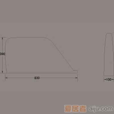 惠达小便器-UV001档板2