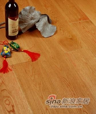 宏鹏地板金铂面防潮实木系列―栎木WFT-12-02A-0