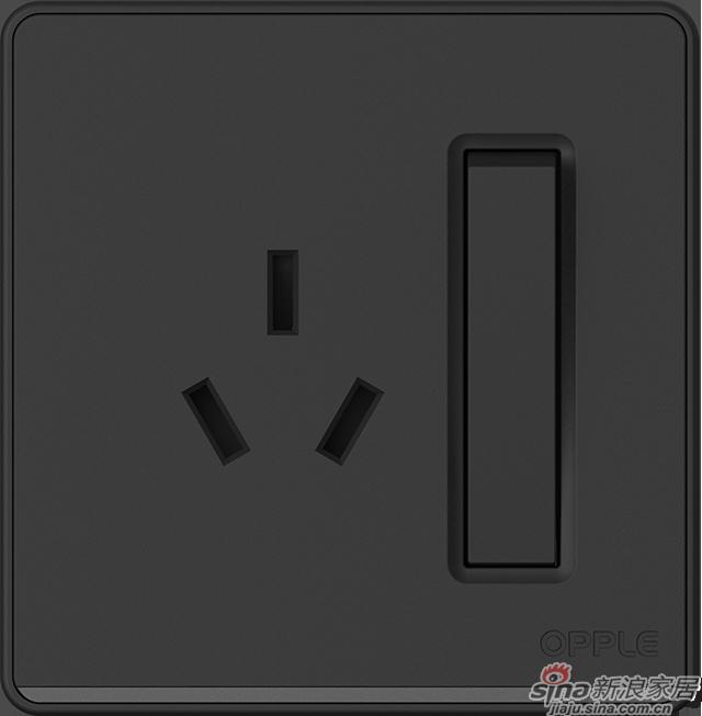 P07一开单+16A三孔黑色
