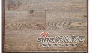 四合地板三层实木复合地板地热地板白栎碳金色 -0