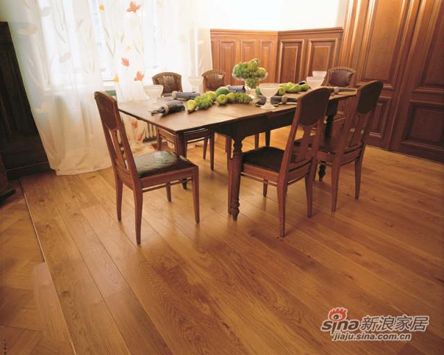 得高karelia三层实木地板 古典橡木-2