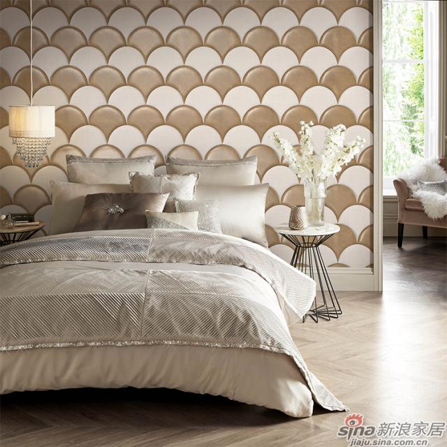巴塞罗那_扇形绵羊皮质感与亚麻布纹理立体软包材质壁画欧式背景墙_JCC天洋墙布