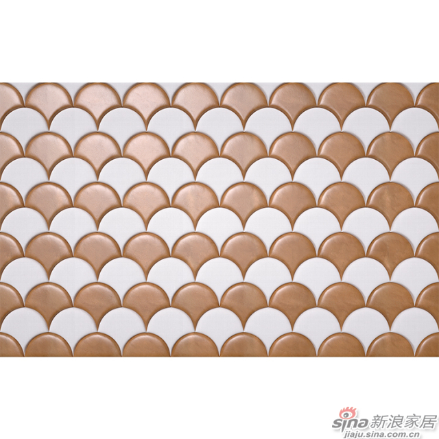 巴塞罗那_扇形绵羊皮质感与亚麻布纹理立体软包材质壁画欧式背景墙_JCC天洋墙布-2