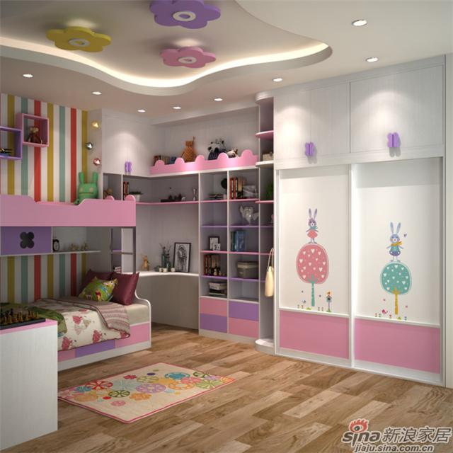 箭牌衣柜【梦幻乐园】女孩房-7
