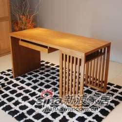 B&E佰宜家居 书桌 工作台 书房 水曲柳 实木板木结合 -0