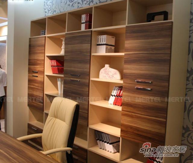 超级时尚的现代风书柜 可配套电脑桌-0