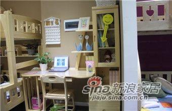 ABC实木儿童家具LH-A028双抽书柜书台-0