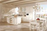 简欧开放式厨房 象牙白L型整体橱柜