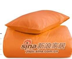 MLILY床上用品特价套件全棉斜纹活性印染炫彩三件套(桔色)-0