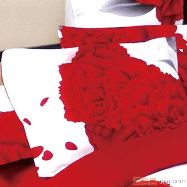 家元素床上用品-爱相伴(白)四件套纯棉-HD15000013