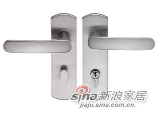 雅洁AS5091A-E1712-12插芯门锁+尼龙镍-0