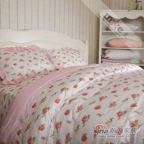 梦洁家纺床上用品 纯棉蕾丝四件套-0