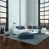 德合家BEFAG三层实木复合地板B55609三拼烟熏乡村油拉丝橡木