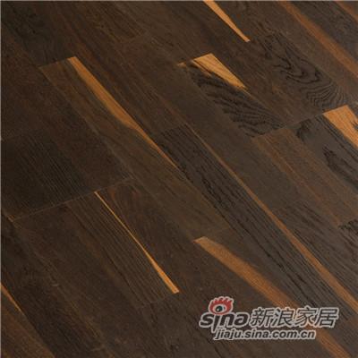 德合家BEFAG三层实木复合地板B55609三拼烟熏乡村油拉丝橡木-1