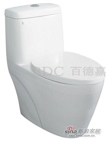 百德嘉陶瓷件连体座便器-H331115-0