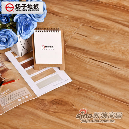 扬子地板 E0环保防潮耐磨地暖百搭中性色强化复合木地板-0