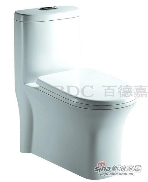 百德嘉陶瓷件连体座便器-H331119-0