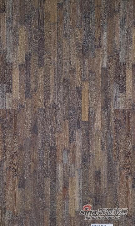 得高karelia三层实木地板 石磨象牙白鸡翅木-1