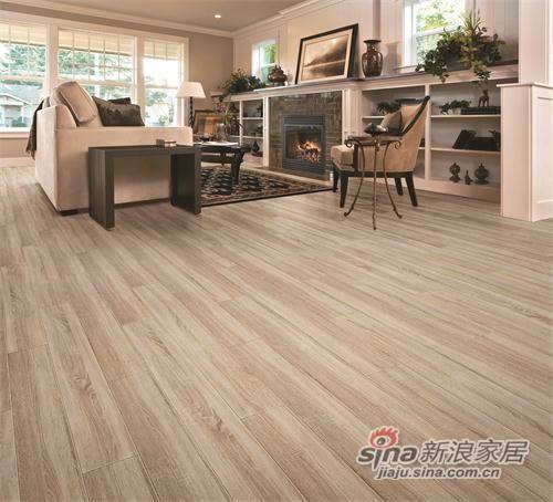 德尔无醛芯强化木地板 率性橡木