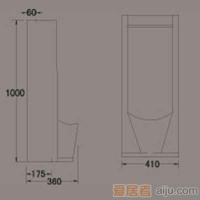 惠达小便器-HD1M豪华立便(返弯)1