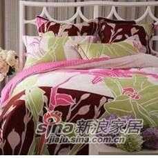 紫罗兰家纺床上用品全棉活性印花四件套叶露花啼VHL0319-4-0