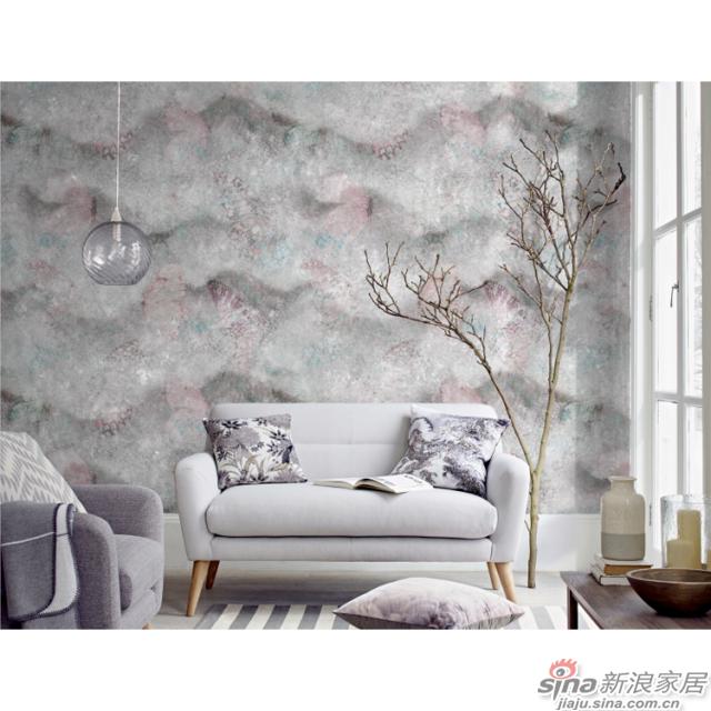 蝶舞蹁跹_蝴蝶似在云雾中缓缓苏醒壁画自然花鸟背景墙_JCC天洋墙布