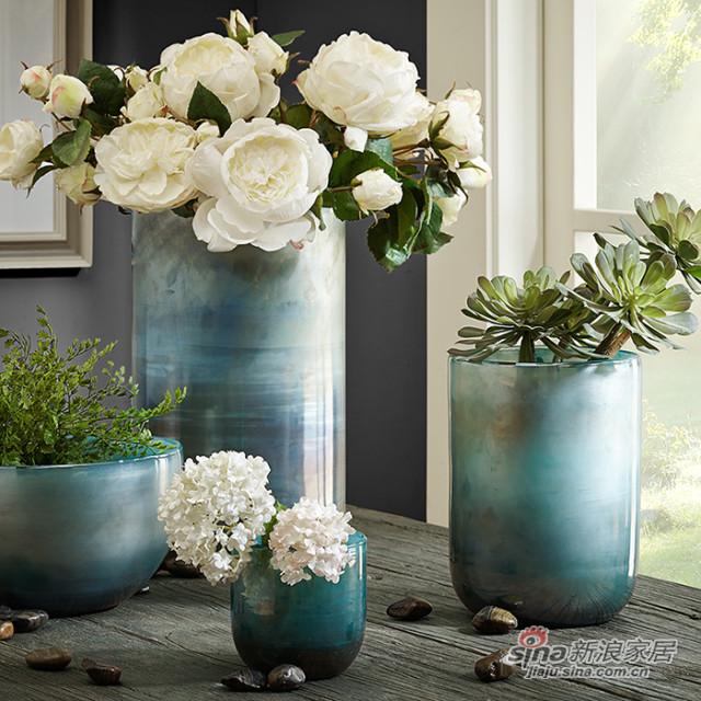 圆柱形玻璃花瓶-0