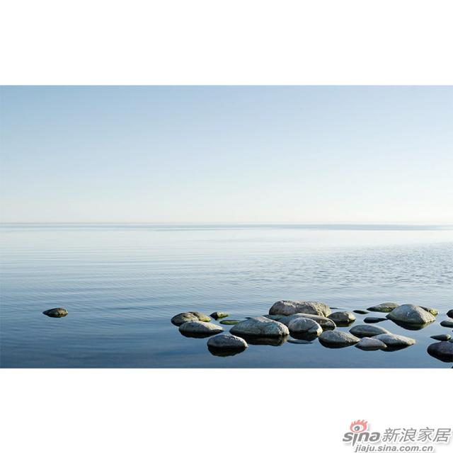 湖湾冥想_碧湖风吹涟漪瞭望无际碧画现代轻奢风格背景墙_JCC天洋墙布-1