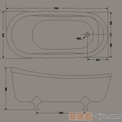 惠达-HD1102龙头浴缸2