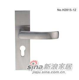 雅洁AS2051-H2815-12中锁中文镍锁体+70中文镍锁胆-0