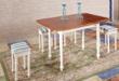 小憨豆家居地中海系列实木烤漆餐桌