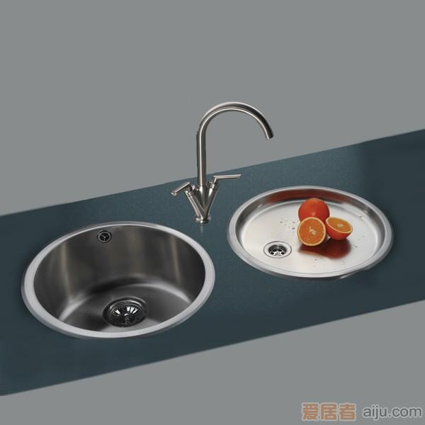 GORLDE优质不锈钢水槽/洗菜池 莱茵系列1011D-1(单圆盆)1
