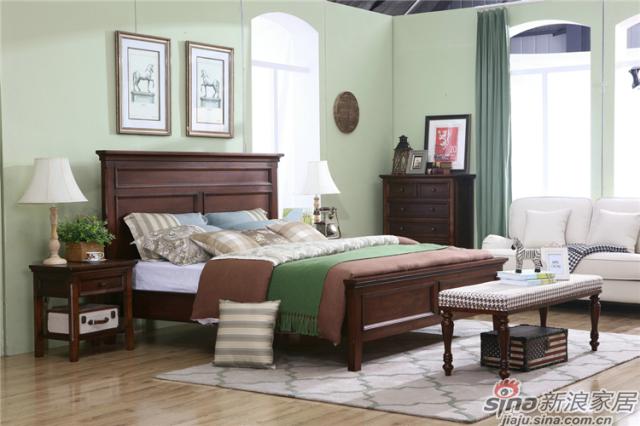 布鲁克系列-ML68001床+ML6801#床头柜