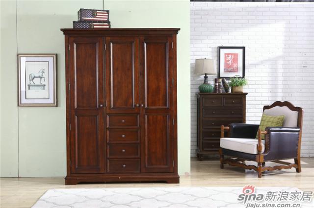 布鲁克系列-ML68002三门衣柜