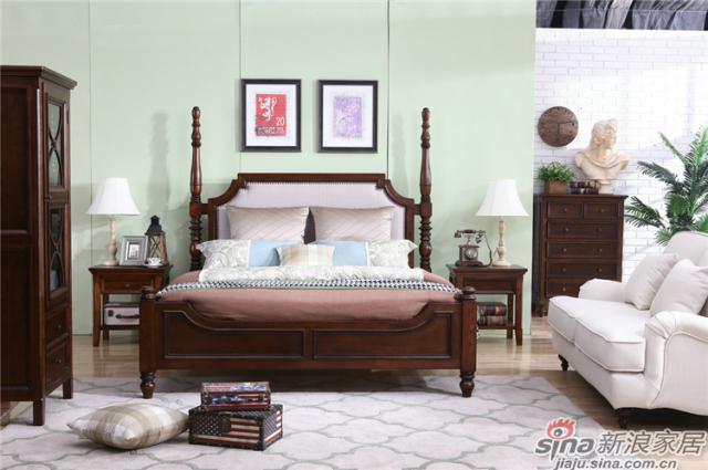 布鲁克系列-ML68003床+ML6801#床头柜