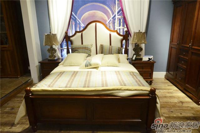 布鲁克系列-ML68008床+ML6802床头柜