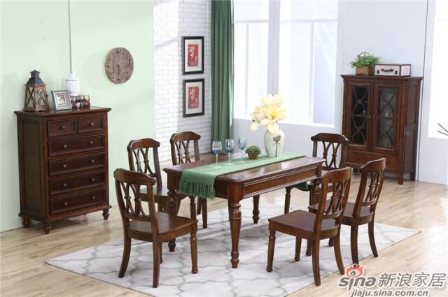 布鲁克系列-ML68505餐桌椅