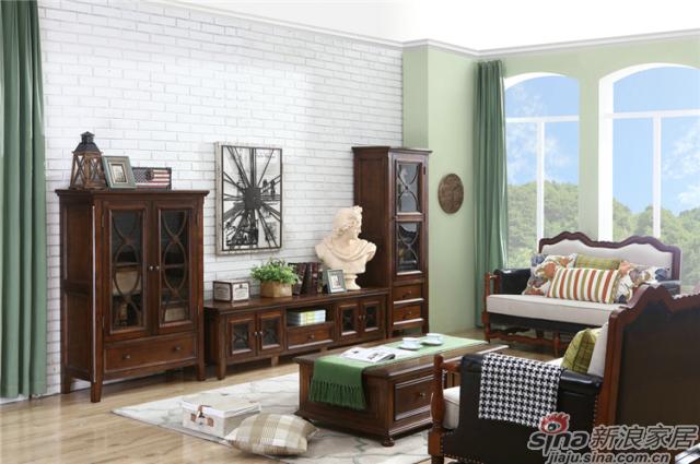 布鲁克系列-ML68602电视柜+单门高柜+双门矮柜