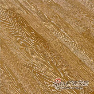 德合家BEFAG三层实木复合地板B55603三拼棕白拉丝橡木