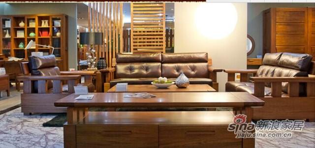 意风K53B1S型号巴新胡桃木双人沙发-0