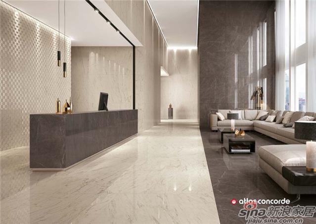 设计元素大规格成就大格局,大规格瓷砖,是当今国际流行趋势,就像是一块高级布料,可根据其装修需求随意裁剪,经过切割、铺贴后更具设计感,为设计师提供更广阔的设计空间。通过自由切割、不同组合运用让整个家居空间层次感更加丰富。