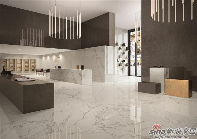 """大规格引导设计大概念,XL系列瓷砖在规格和釉面方面灵动时尚,每一块产品都像一件艺术品。真实的砖面、纹理更加凸显设计灵感,不仅能够取代传统石材,且能超越天然石材的局限,真正做到""""源于石材,优于石材"""",创造出一种全新的家居设计语言,成为未来家居生活的新风尚。"""