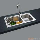 GORLDE优质不锈钢水槽/洗菜池 莱茵系列2002PT(大小盆)