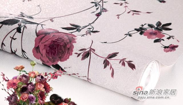 特普丽 浮雕立体3D墙无纺布纸 玫瑰之约-2