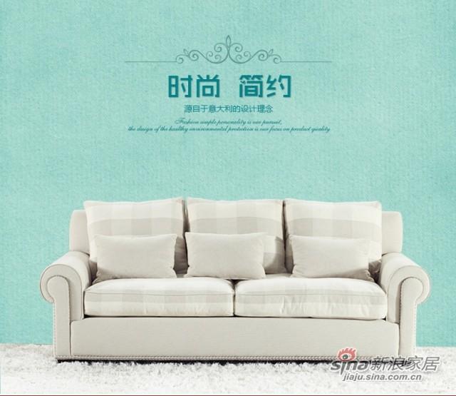 斯可馨 布艺沙发客厅简约现代中小户型沙发 二人三人位-2