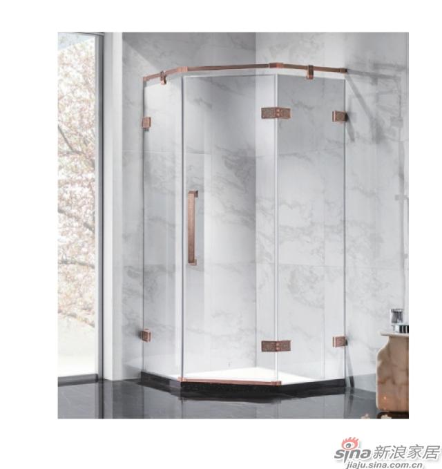 SH2-3331Z钻石型两固一开平沐浴房