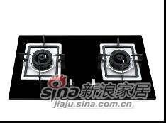 志邦厨柜陶瓷面双眼灶具JZ.2-38S