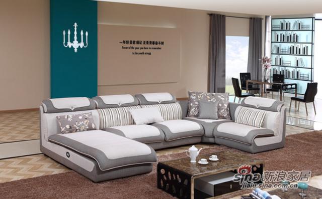 中山家私沙发系列之灰白布艺沙发