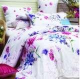 紫罗兰家纺床上用品全棉贡缎印花四件套挪威森林VPEF089-4