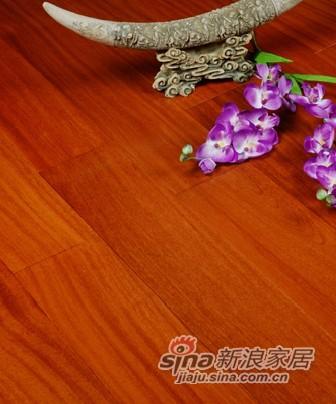 宏鹏地板金铂面防潮实木系列―二翅豆HP0801-0